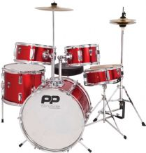 PERFORMANCE PERCUSSION RED 5 PIECE JUNIOR DRUM SET